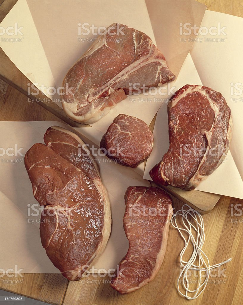 Raw Cuts of Beef royalty-free stock photo
