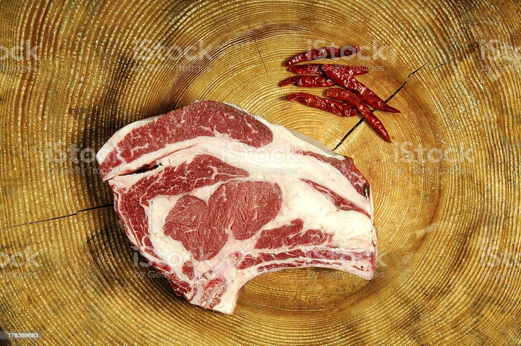 Raw Dallas Steak royalty-free stock photo