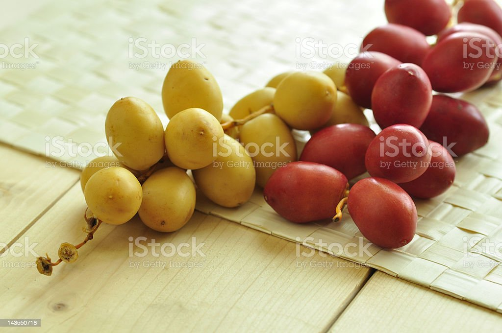 Raw dates royalty-free stock photo