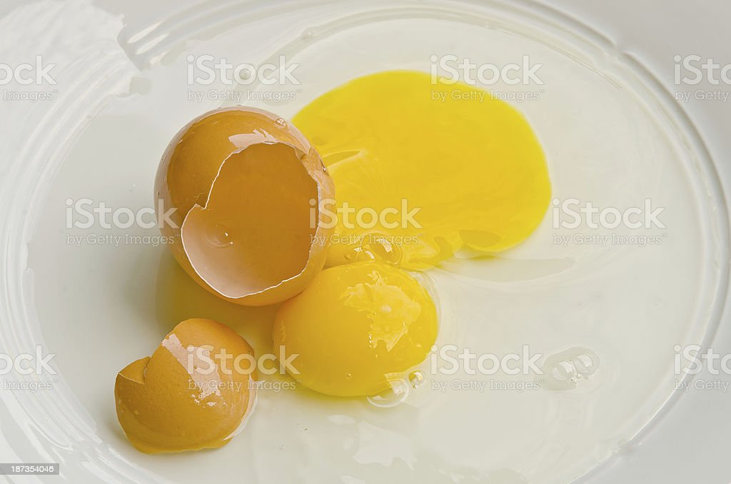 Raw egg yolk royalty-free stock photo