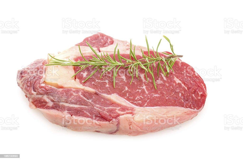 Raw entrecote steak royalty-free stock photo