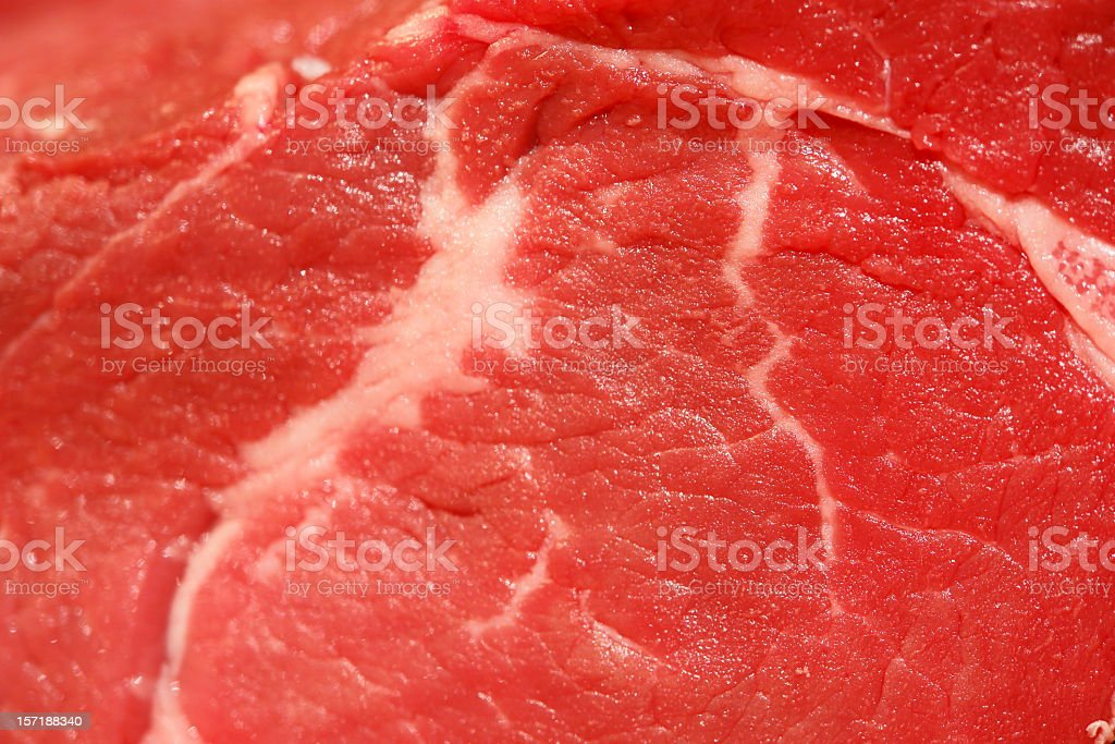 Raw Filet Mignon Macro royalty-free stock photo