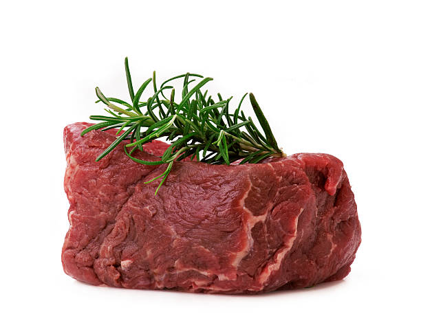 Raw filet steak stock photo