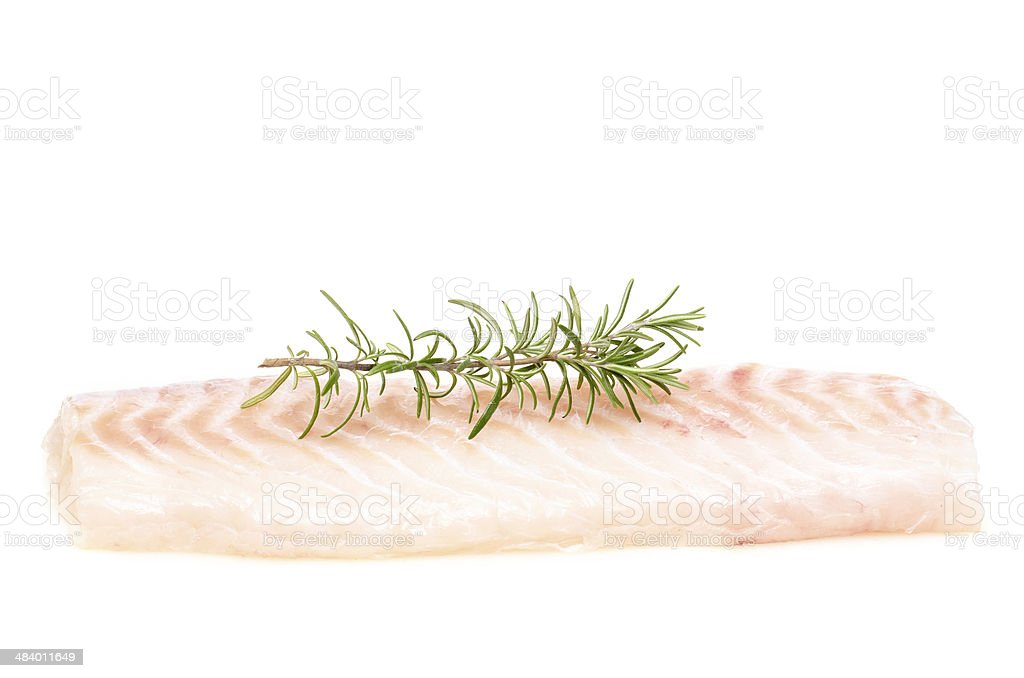 Raw fillet of cod stock photo