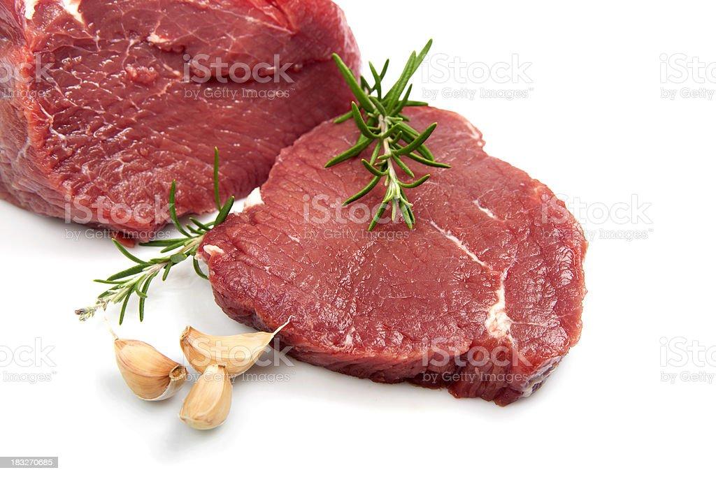 Raw fillet steak royalty-free stock photo