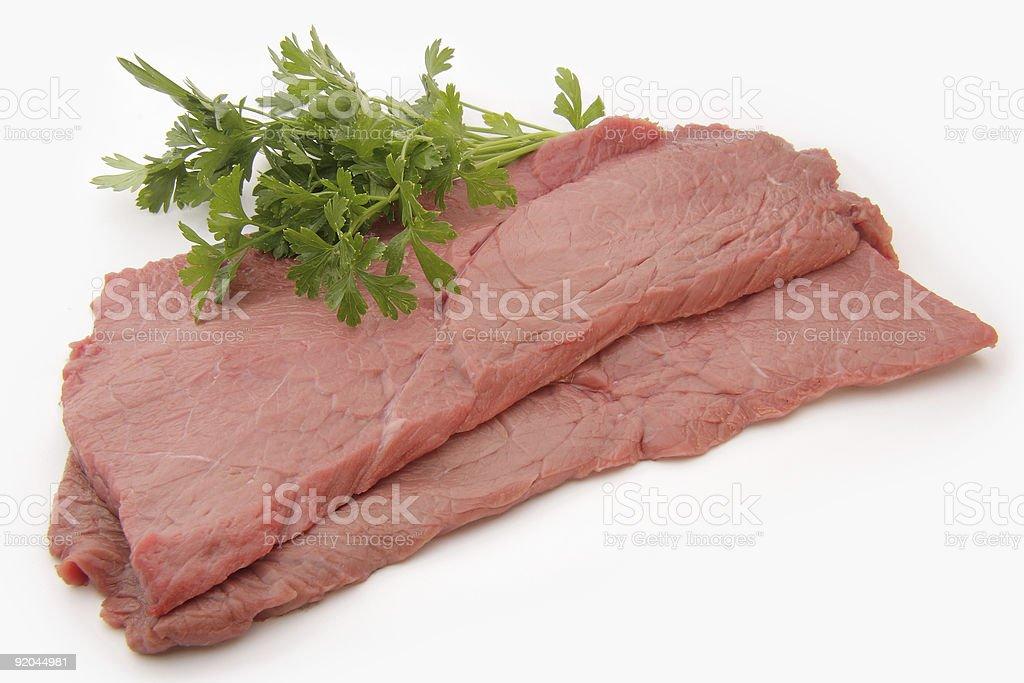 Raw fillet steak. royalty-free stock photo