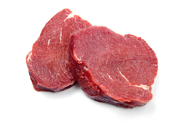 Raw fillet steaks stock photo