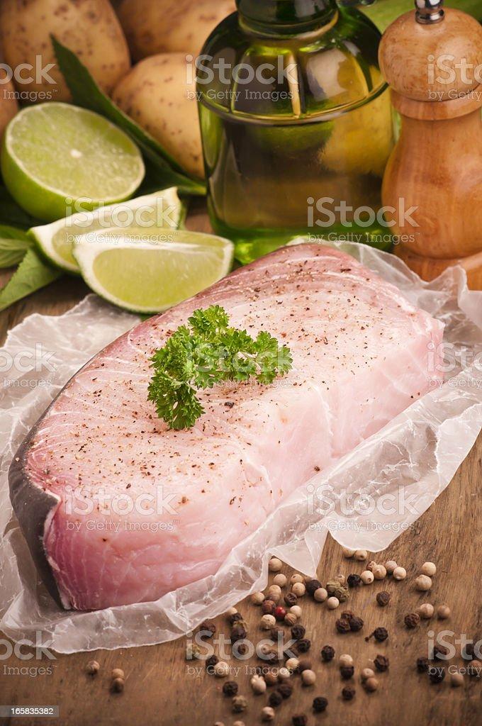 Raw Fish Fillet royalty-free stock photo
