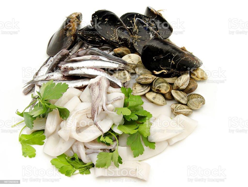 Raw fish royalty-free stock photo