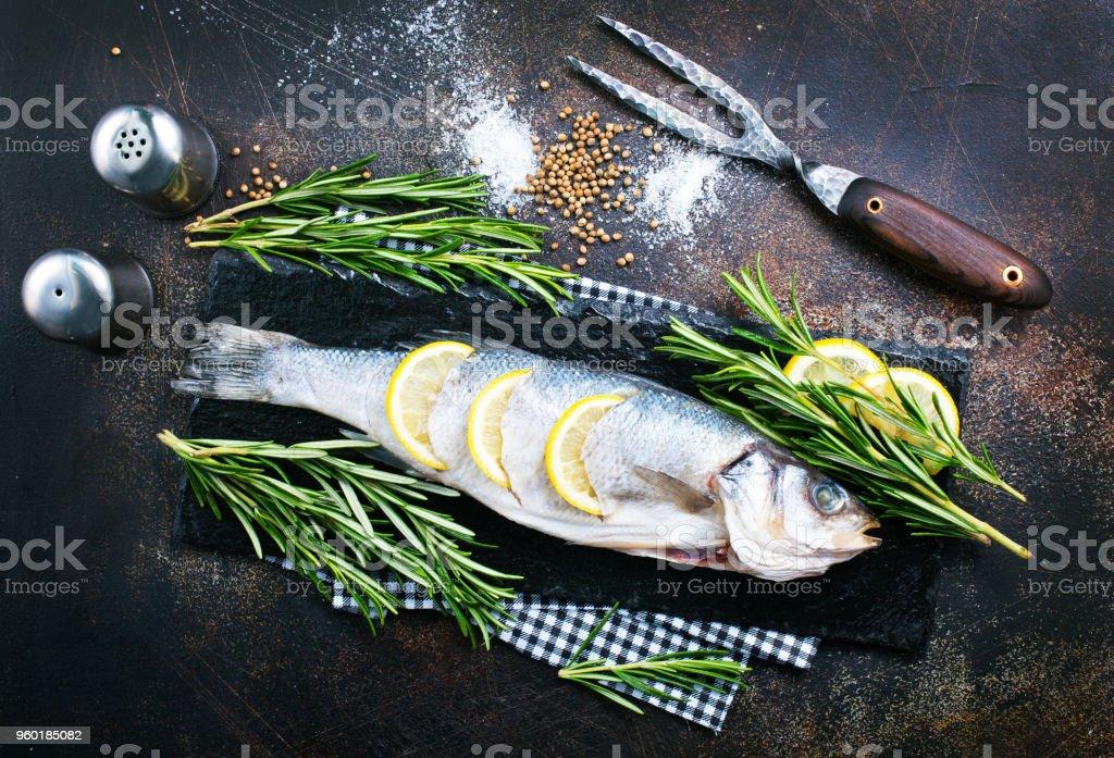 raw fish stock photo