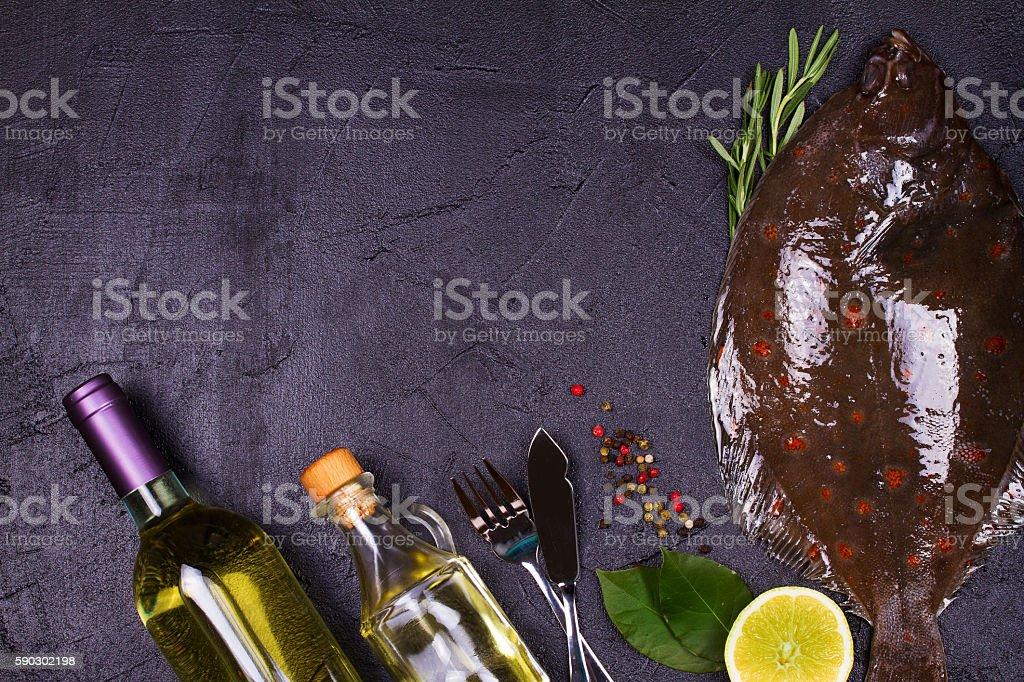Raw Fresh Fish on Black  Background royaltyfri bildbanksbilder