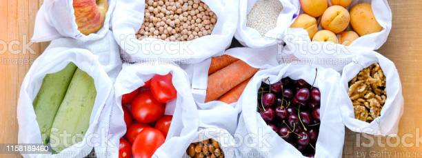 Raw fresh food in reusable cotton produce bags zero waste and no picture id1158189460?b=1&k=6&m=1158189460&s=612x612&h=raztgh8njbcve nwreaog00yksvlc8carkgmgbfea4m=