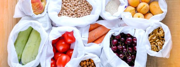 Raw fresh food in reusable cotton produce bags zero waste and no picture id1158189460?b=1&k=6&m=1158189460&s=612x612&w=0&h=riipugrthutncyt0cgnk6pksai1ujgyopaz2bvjpnny=