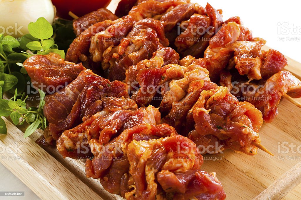 Raw fresh meat ready to grill royalty-free stock photo