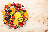 istock Raw fruits berries platter 1124236851