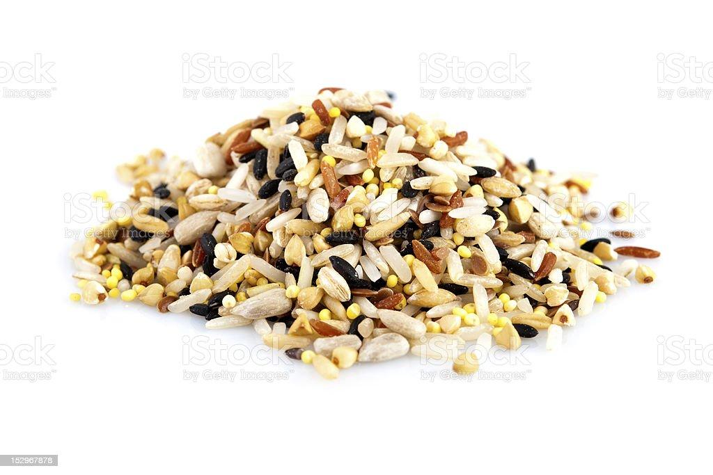 Raw grains stock photo