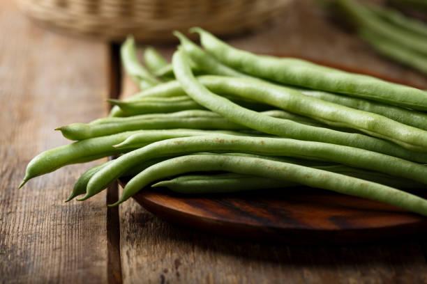원시 녹색 콩 - 그린빈 뉴스 사진 이미지
