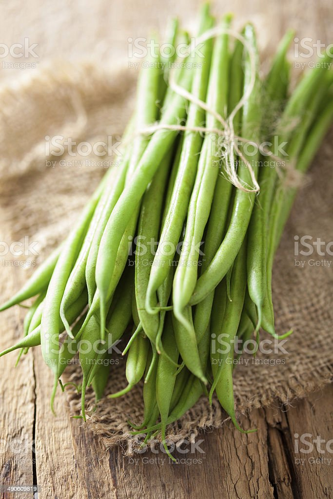 raw green beans stock photo