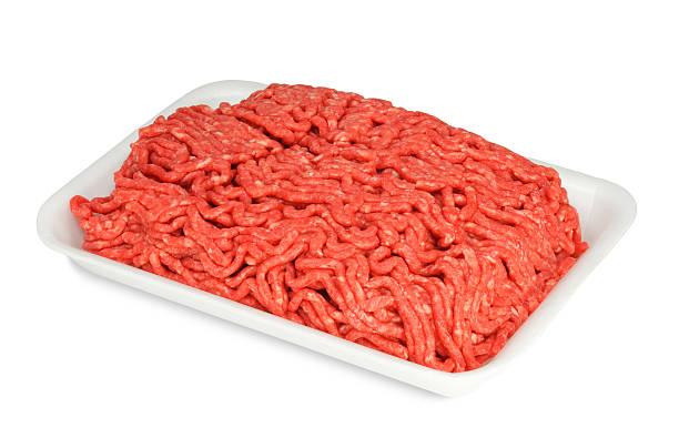 Raw Boden Rindfleisch in einem weißen Teller – Foto