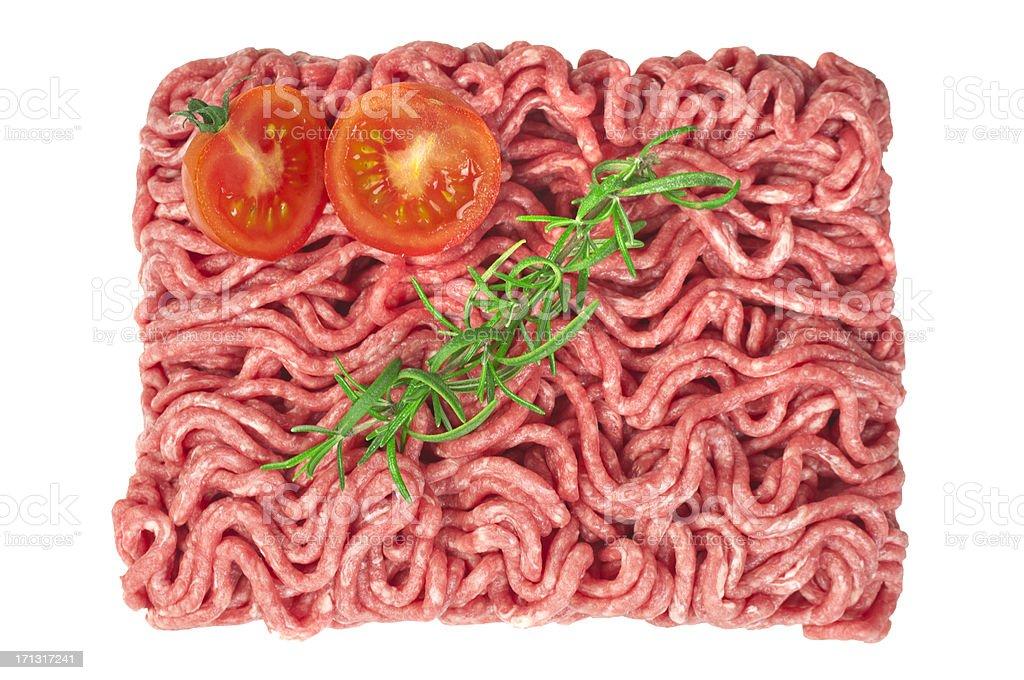 Raw ground beef royalty-free stock photo