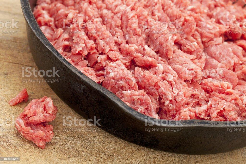 raw ground bison (buffalo)  meat stock photo