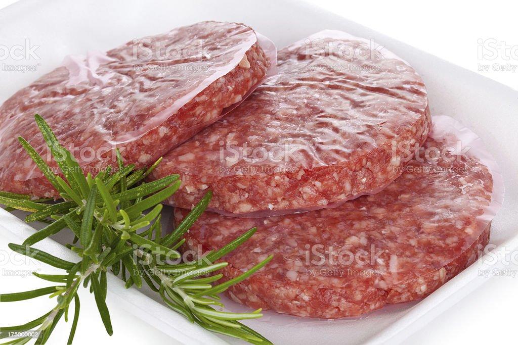 Raw Hamburgers royalty-free stock photo