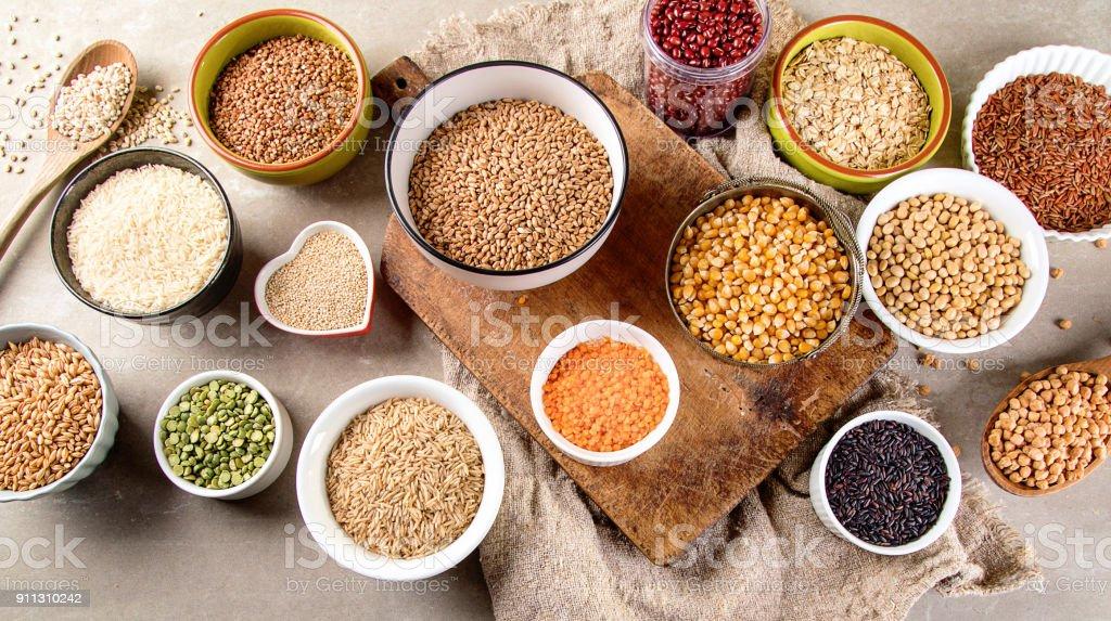 Raw healthy grain food stock photo