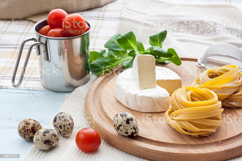 Raw homemade pasta royalty-free stock photo