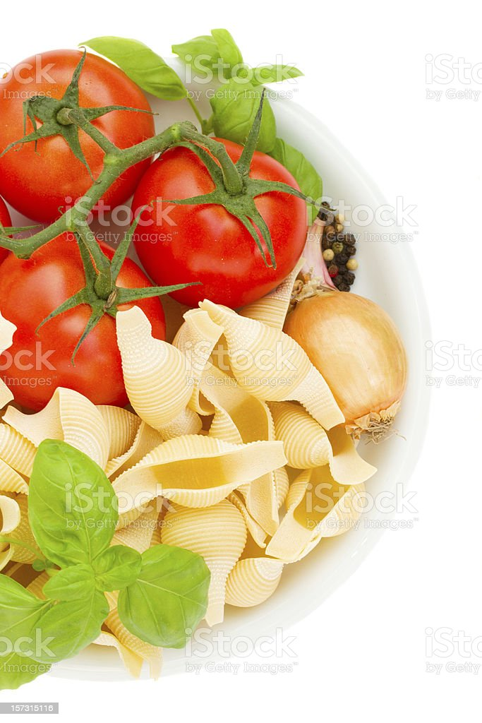 raw italian pasta in plate royalty-free stock photo