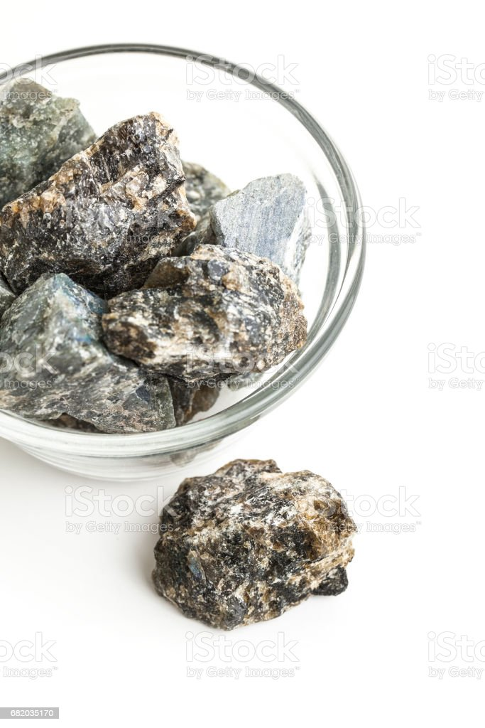 raw labradorite gemstone stock photo