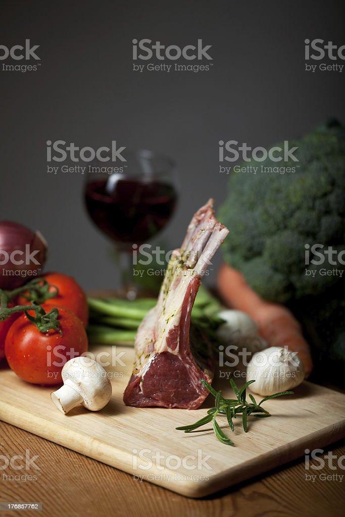 raw lamb meat stock photo