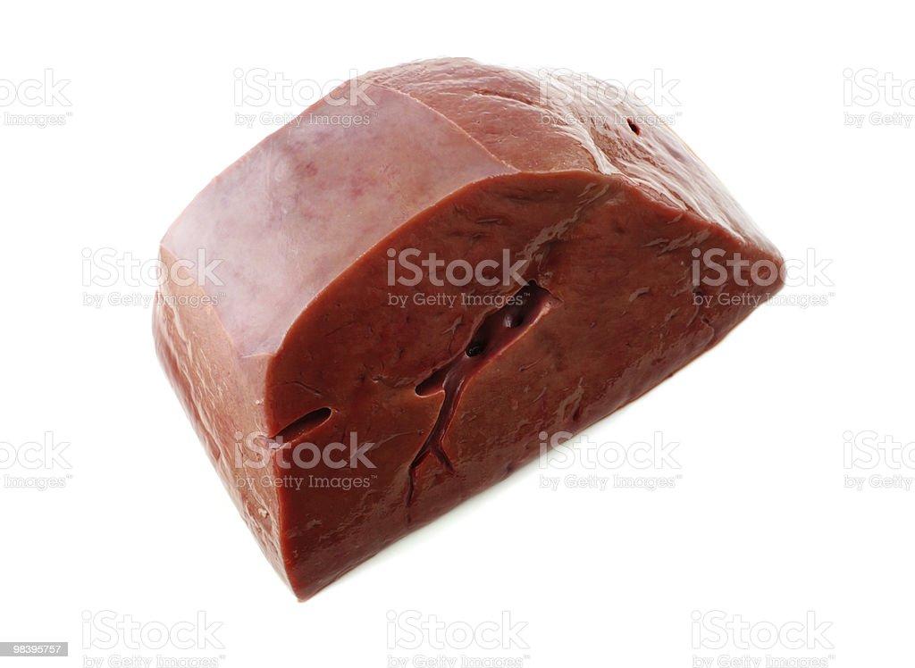 raw liver royalty-free stock photo
