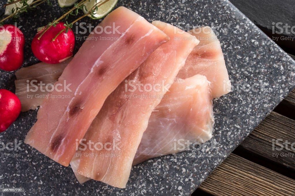 Raw Mahi Mahi stock photo
