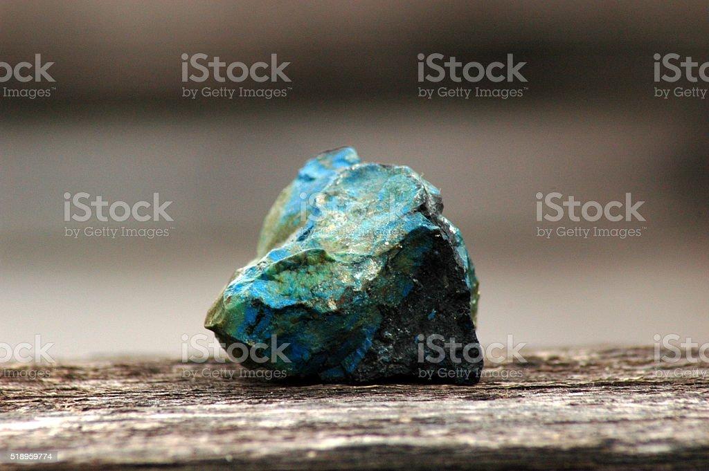 Необработанные малахит &  азурит с драгоценными камнями стоковое фото