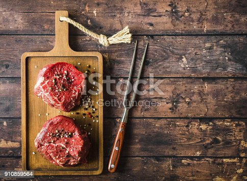 istock Raw marbled meat steak 910859564