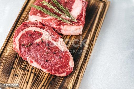 istock Raw meat beef steak. 1222855323