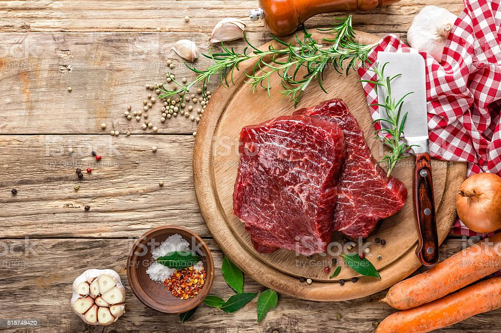 raw meat beef steak stock photo