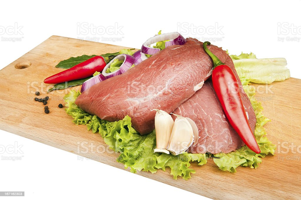 raw meat on the cutting board royalty-free stock photo