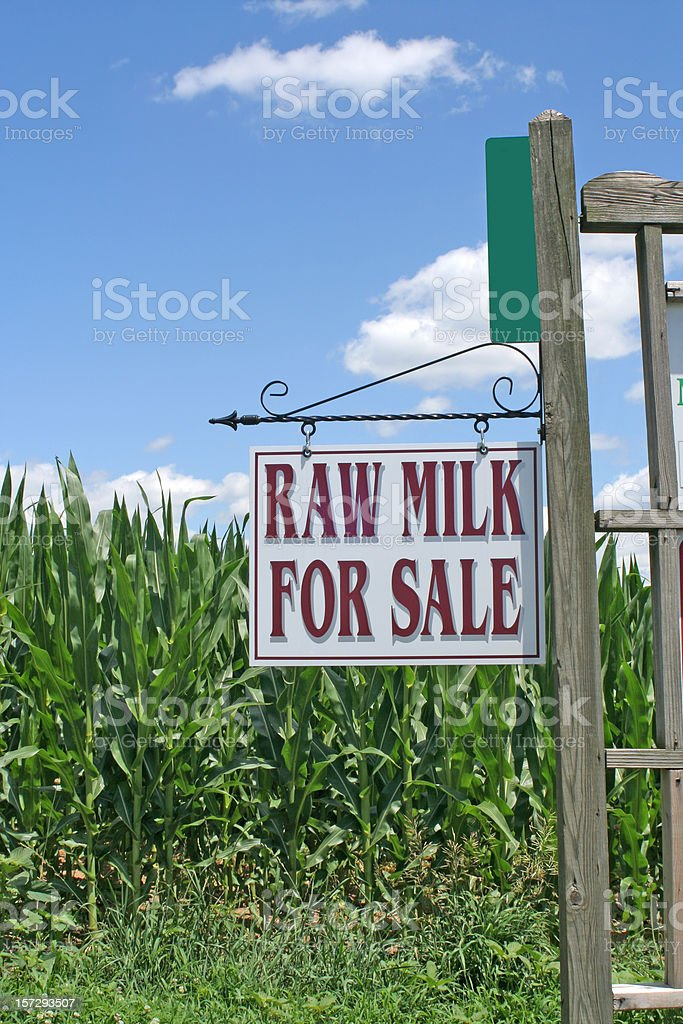 Raw Milk Sign royalty-free stock photo