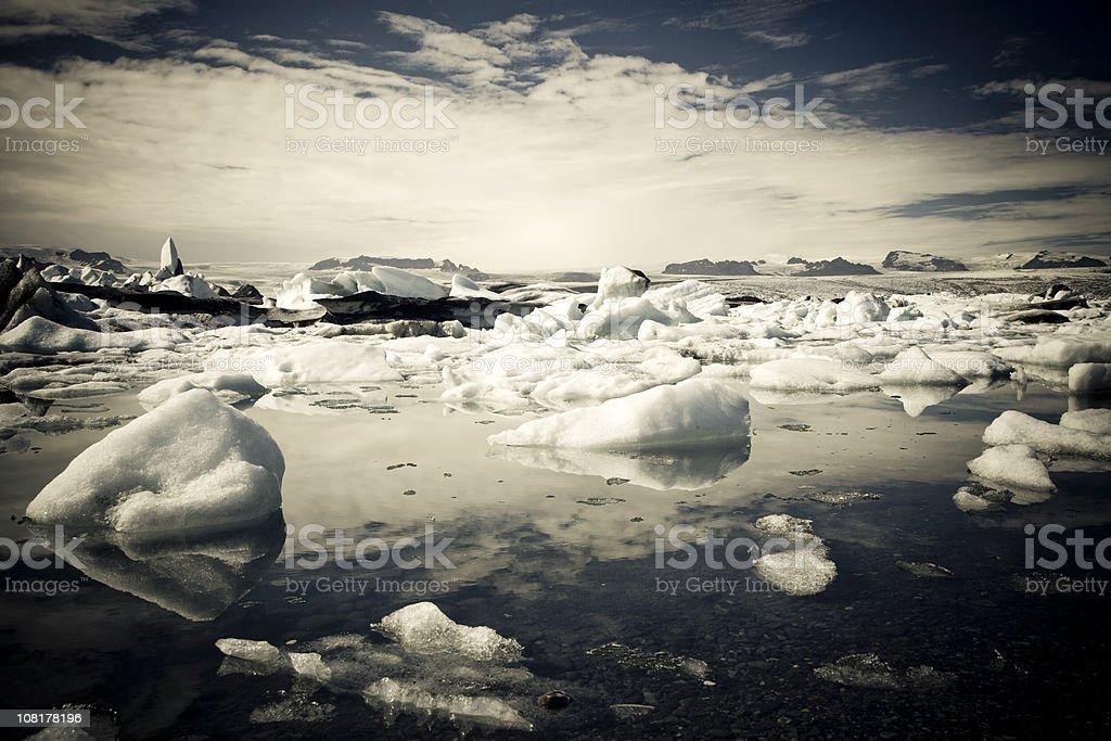Raw Nature Icebergs Series I royalty-free stock photo