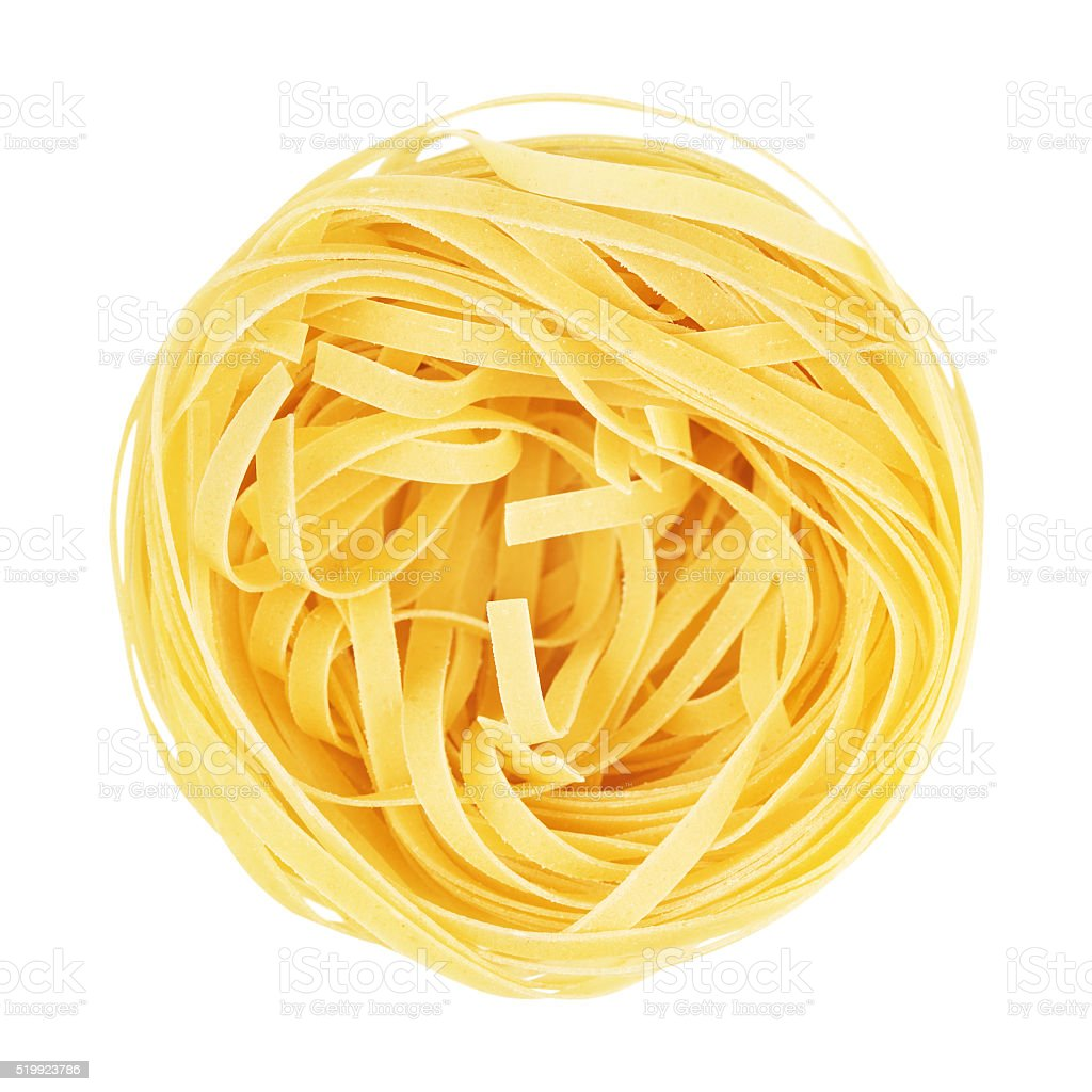 Raw Nest Pasta stock photo