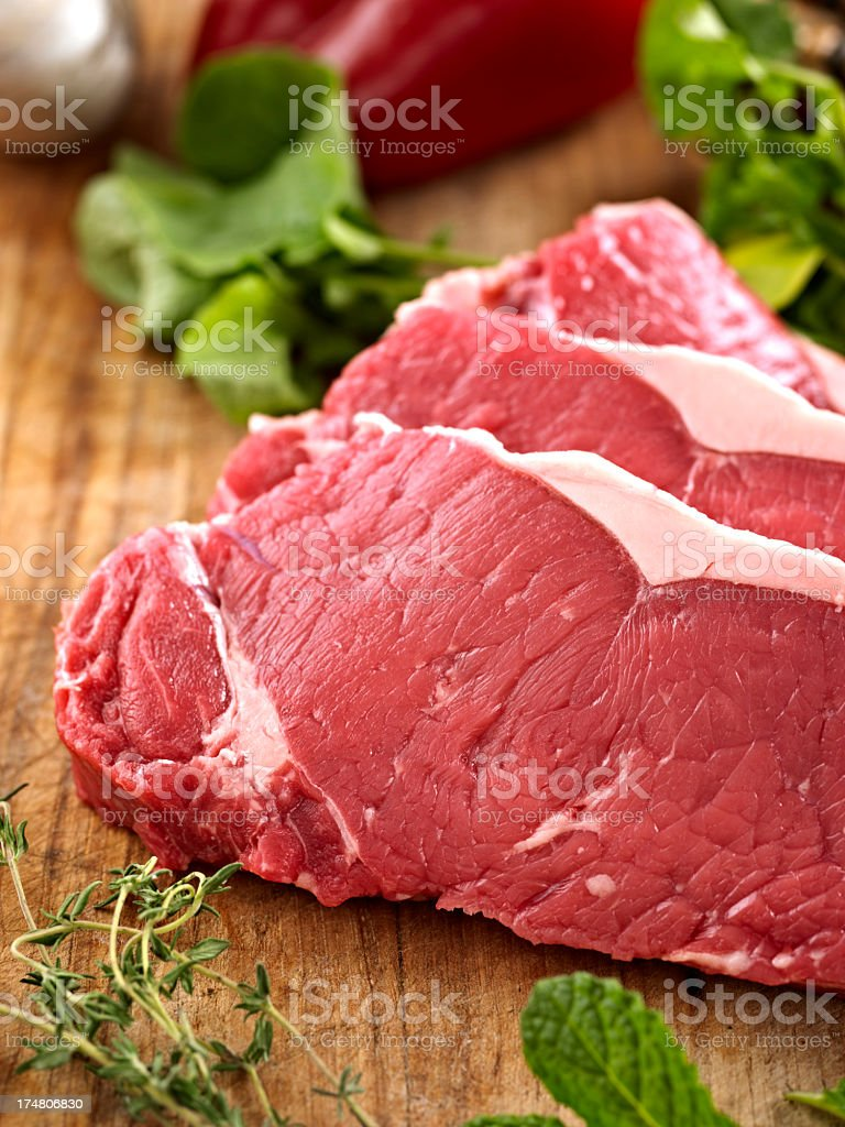 Raw New York Steak royalty-free stock photo