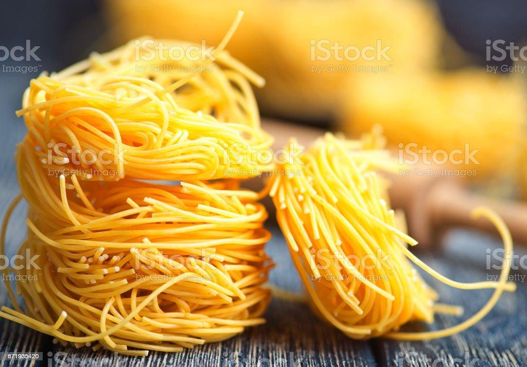 raw noodle stock photo