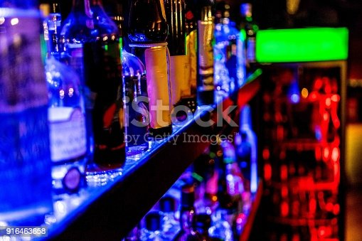 istock raw of bottles in a Bar 916463658
