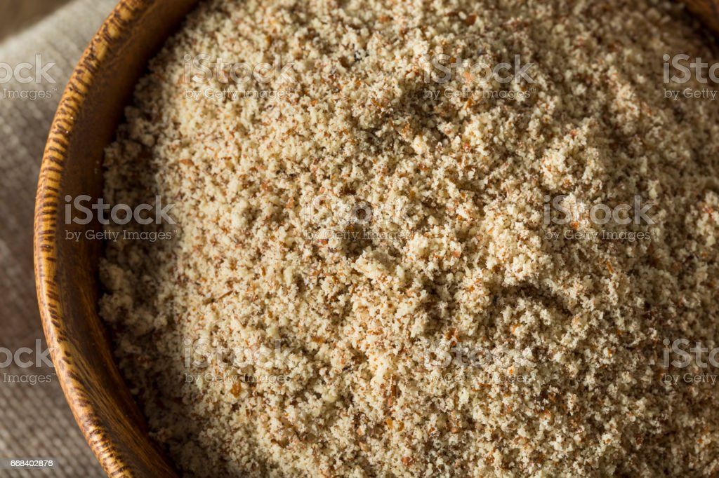 Raw Organic Almond Flour stock photo