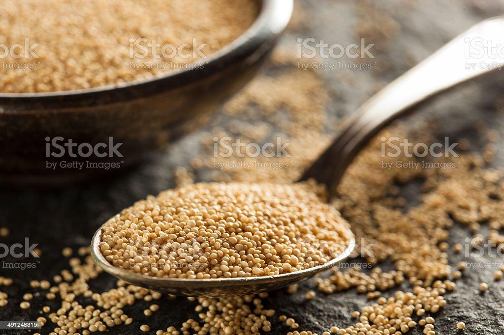Raw Organic Amaranth Grain stock photo