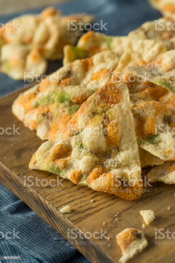 Raw Organic Chickpea Chips photo libre de droits