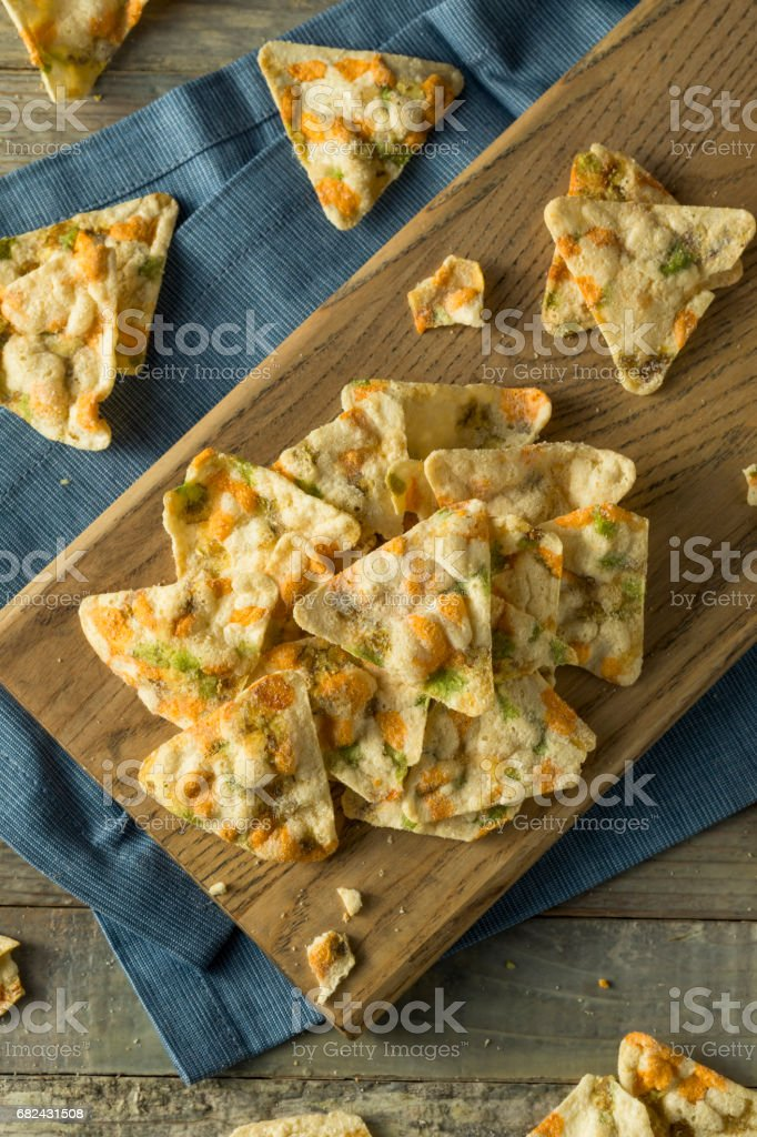 Raw Organic Chickpea Chips royalty-free stock photo