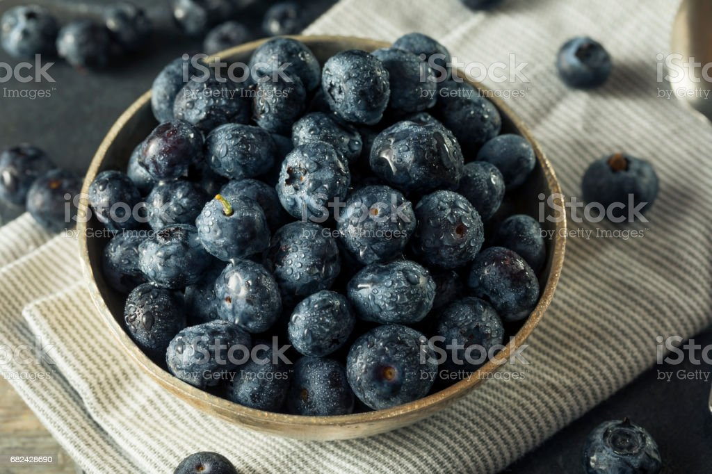 Raw Organic Healthy Blueberries royalty-free stock photo