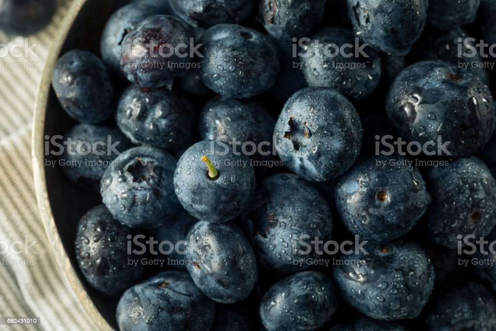 Raw Organic Healthy Blueberries photo libre de droits